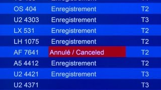 Air France: la grève cloue la moitié des avions au sol
