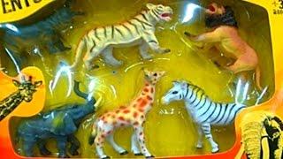 giocattolo mondo animali selvaggio - giraffa leone tigre elefante ippopotamo zebra zoologico