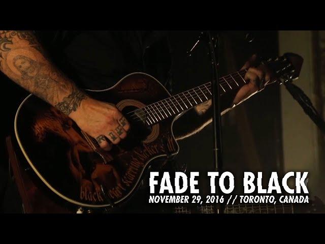 Metallica en concierto en Toronto en julio de 2016, tema: Fade to Black