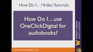 How do I use OneClick Digital to download and play an audiobook?