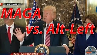 "Trump's Powerful Press Conference Calling Out ""Alt-Left"" #Charlottesville"