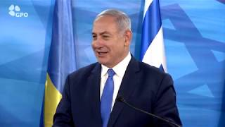 PM Netanyahu Meets Ukrainian President Poroshenko