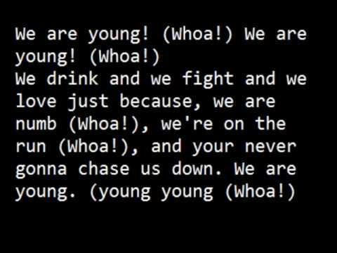 We Are Young de 30h3 Letra y Video