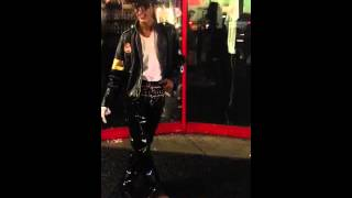 Michael Jackson dancing in Hollywood street