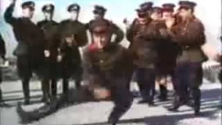 Soviet Army dancing to Hard Bass