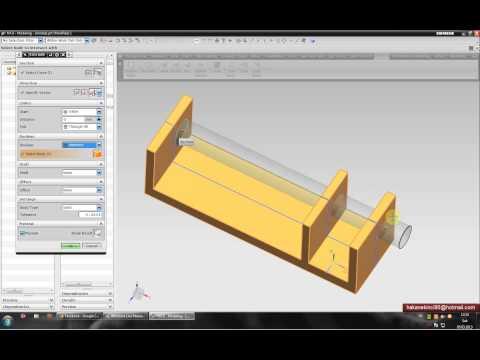 Unigraphics NX CAD 8.0 Eğitim seti - part10 (Extrude Komutu Tanıtımı)