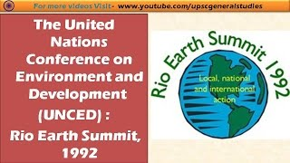 UNFCCC: RIO SUMMIT 1992|| IMPORTANT ORGANISATION OF CLIMATE CHANGE width=