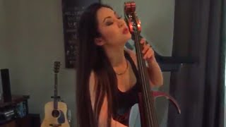 "Tina Guo recording Electric Cello for ""Dominion"" w/Composer Bill Brown"