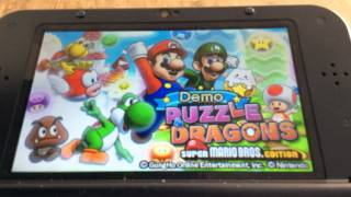 Puzzle and dragons Mario bros edition demo music titel screen