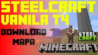 MINECRAFT PORTUGAL  SteelCraft Vanila MAPA TEMPORADA 3 DOWNLOAD