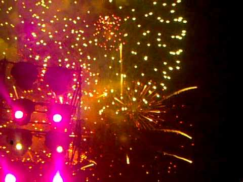 Awesome fireworks at Grand Opening of ICC Cricket World Cup 2011