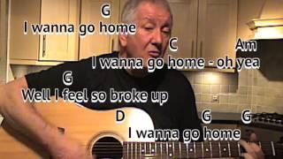 Sloop John B - Beach Boys - cover - easy chords guitar lesson with on-screen chords and lyrics