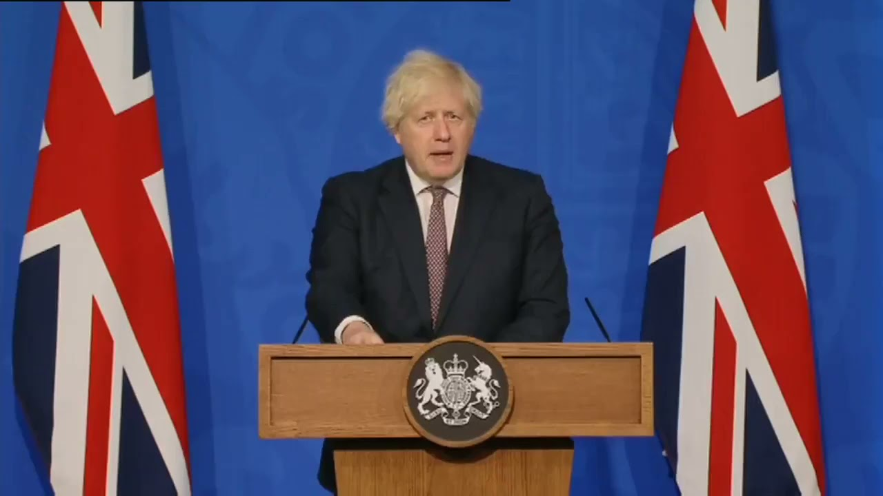 Boris Johnson sets out England's Five-Point Plan for Living With Covid