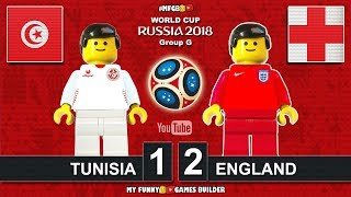 Tunisia vs England 1-2 • World Cup 2018 (18/06/2018) All Goals Highlights Lego Football
