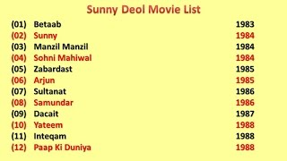 Sunny Deol Movies List