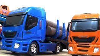 Caminhão de brinquedo grande - Caminhão cegonha e caminhão caçamba basculante