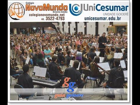 Orquestra Filarmônica do Unicesumar foi aplaudida de pé por vários minutos