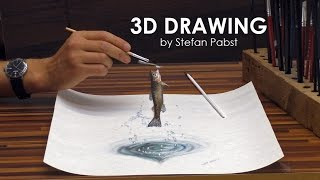 DRAWING IN 3D║JUMPING FORELLE │Magic Painting
