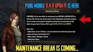 PUBG MOBILE ZOMBIE MODE UPDATE MAINTENANCE BREAK IS HERE | PUBG MOBILE 0.11.0 UPDATE RELEASE DATE ✔