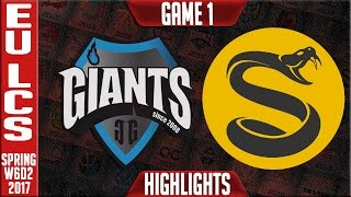 Giants vs Splyce Game 1 Highlights - EU LCS W6D1 Spring 2017 - GIA vs SPY G1