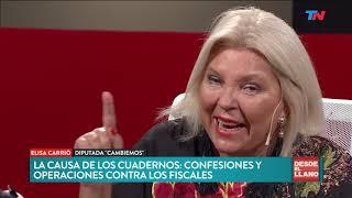 Carrió le bajó el tono a la ruptura en Córdoba y respaldó a Cambiemos   DESDE EL LLANO