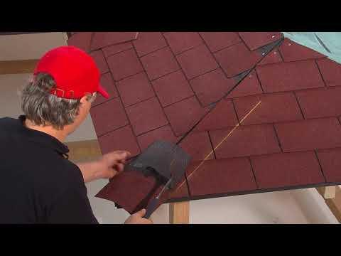Instalace nároží a hřebenů na šindelovou střechu