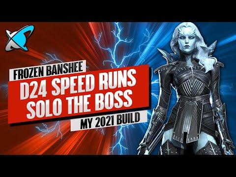 FROZEN BANSHEE D24 SPEED FARMING !! | Masteries & Guide | Best Budget Builds | RAID: Shadow Legends