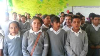 Alumnos cantando en Nahuatl (Icnocuicatl)