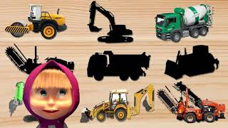 Kids Video Construction Vehicles Toys for kids, Learning Name Sounds Excavator, Dump truck,Bulldozer