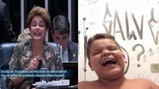 Dilma explica porcentagem para o gordinho do riso