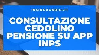 Inps mobile Cedolino pensione Inps ex Inpdap: consultazione cedolino