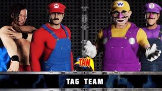 TAW - Mario/Shinsuke Nakamura vs Wario/Waluigi WWE 2K18 1/18/19