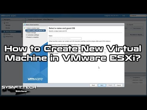 vSphere Virtual Machine Creation Video