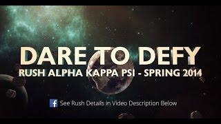 Rush Alpha Kappa Psi at Santa Clara University - Spring 2014