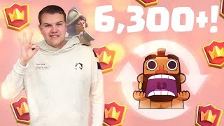 INSANE CYCLE! 6,300+ 2.6 Hog Rider Cycle Deck LIVE Ladder Gameplay - Clash Royale