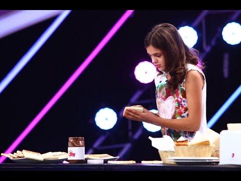 Anastasia Ivanov a portretizat-o pe Alina, cu ciocolată, pe mai multe felii de pâine Next Star