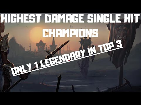 Top 3 Hardest Hitting Champions in the Game (Single Hit) I Raid Shadow Legends