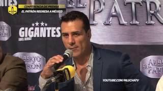 Conferencia de prensa de Alberto El Patrón en la Ciudad de México