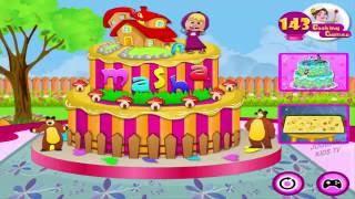 Joguinho da Masha e o Urso decorar o Bolo de Aniversário