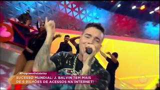 """J. Balvin agita plateia do Programa da Sabrina com os hit """"Mi Gente"""" e """"Ginza"""""""
