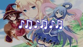 KonoSuba 2 OP -【TOMORROW  | KARAOKE | ( Piano Ver.)