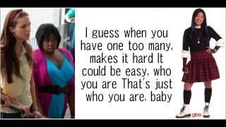 GLEE Womanizer with lyrics