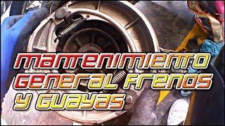 mantenimiento freno de tambor  y guayas para cualquier moto.