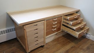 Building a workbench with lots of drawers