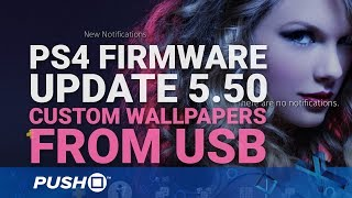 How to Create Custom PS4 Wallpapers from USB | PlayStation 4 | Firmware Update 5.50 Guide