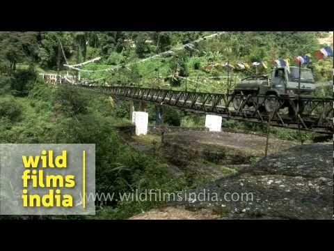 Highest bridge in the world? Indian military trucks crossing it!