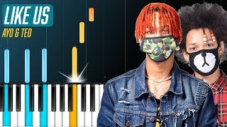 "Ayo & Teo - ""Like Us"" Piano Tutorial - Chords - How To Play - Cover"