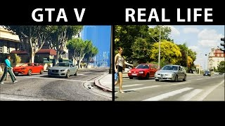 GTA V vs Real Life [Side by Side] Part 1