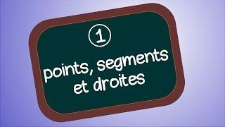 Point, droite, segment et milieu (Géométrie 1)