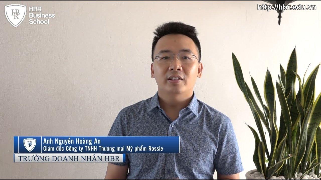 Cảm nhận học viên trường doanh nhân HBR - Giám đốc Cty TNHH Thương mại Mỹ phẩm Rossie